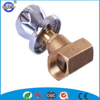 brass gloge valve concealed valve with stainless steel flange