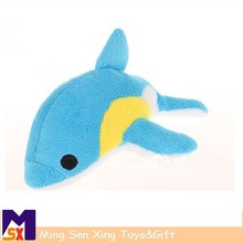 Shenzhen factory custom soft stuffed blue plush dolphin