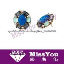 nueva moda arada flor resina azul para los regalos