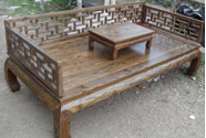 Chinese antique furniture day bed