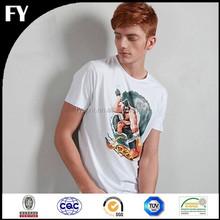 OEM service custom pigment printing 100 cotton fabric for t-shirt