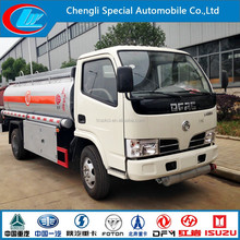 5 CBM carburante camion 5000l usato camion cisterna di carburante benzina 5000l guida a destra con guida a destra bowser carburante dongfeng camion di rifornimento