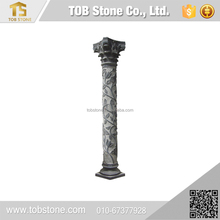 Customized size and shapes round marble column dry hanging