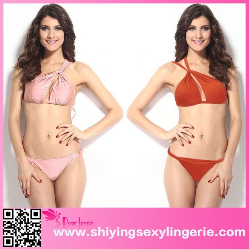 Venta al por mayor caliente naranja gran innovador Sexy traje de baño 2015 bikinis