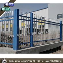 New type powder coating black wrought iron picket fence
