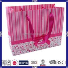 wholesale cheap custom pink paper bag