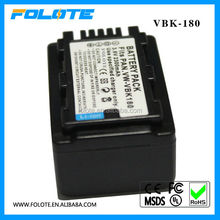Replacement for panasonic digital battery VW-VBK180 VBK180 HC-V10 HC-V100 camcorders