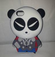 Custom lovely 3d cartoon phone case, silicone phone cover