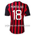 18 montolivo 2013-2014 temporada ac milan inicio tailandia camiseta de calidad nuevo diseño del ac milan 2013-2014 jerseys
