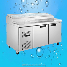 Commercial Stainless Steel Salad Bar Refrigerator for Sale(ZQR-0.3L2W)
