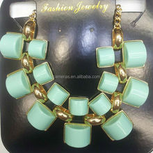 Wheel Acrylic Jewelry Alloy Chain Bib Necklace 2014 Factory Derectly Cheap Price Girls Party Costume Women Accessories
