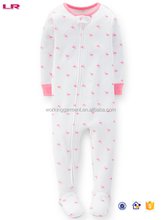 Pictures of Baby Girl's 1-Piece Snug Fit Cotton Pajamas