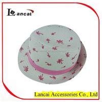 2016 fashion hot sale kids straw hat with pink trim