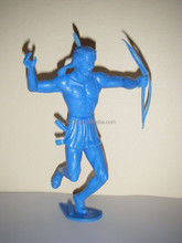 Plastic toy Blue Indian,custom soldier plastic toy