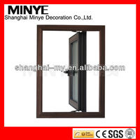 Modern design solid aluminum frame insulated glass hot casement window from China made cheap price factory for home sale