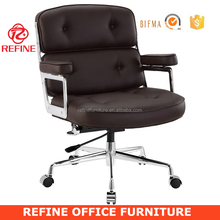 China comfortable luxury modern brown leather office chair RF-S079C