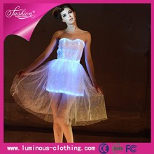 Special and colorful cheap price LED dresses for tropical party