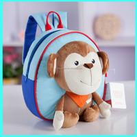 2015 hot selling new fashion plush animal monkey baby boy hanging toys bag