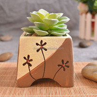 3 inch mini ceramic glazed flower pot