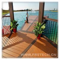 146x22x2400mm frstech ebony timber / wood plastic composite interlocking timber / plastic coated timber