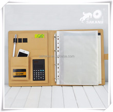 Executive Office Solutions Professional Business Padfolio Portfolio Organizer w/Calculator Synthetic leather