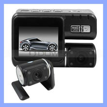 HD 720P Dual Lens Car Camera DVR Accident Recorder With Remote Control Car DVR