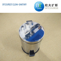stainless steel foot pedal waste bin for home