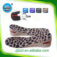 Good quality air cushion shock absorbing full length increase height insole for high sole shoes--PVC plastic pad