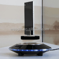 Max load 500 auto free rotation UFO base magnetic floating mobile security display stand
