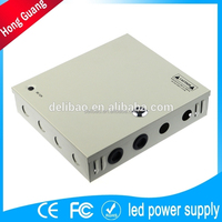 12v 1500ma power supply with metal box for cctv camera