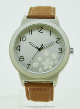popular leather water resistant couple watch