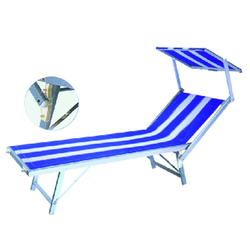 Beach bed folding bed with canopy Blue Striped