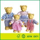 Vestido urso boneca em miniatura Bendy família do urso