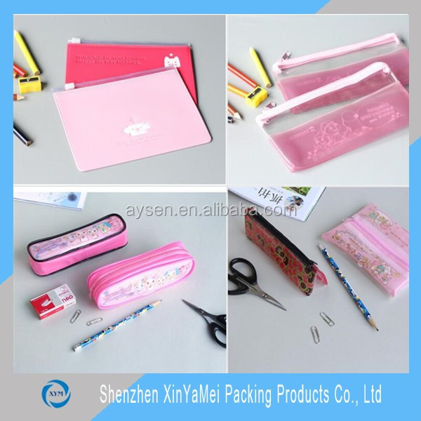 2015 alibaba fashion colored pvc pencil bag, waterproof color frosted pvc pencil case