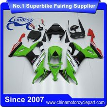 FFGKA008 Motorcycle Fairings For ZX10R ZX 10R 2008-2010 White Black And Green