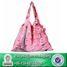 Portable Waterproof reusable 190t shopping bag