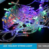 transparent wire 8 fountion controllor 10m length 100bulb with plug wire led christmas string light