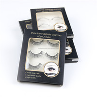 Fast Shipping 5 pair/set natural long mink fur false Eyelash lot black Cross Fake Eyelash Soft Set 8/10/12mm False eyelashes