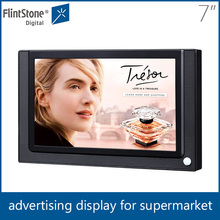 "flintstone 7"" lcd digital monitor signage, 7"" video advertising player, 7 inches lcd motion sensor activated video player"