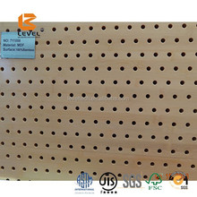 MDF Grooved Panel Class B Flame Retardant Bamboo Finish Suspended Acoustic Ceiling Tiles