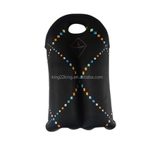 750ML Insulated Neoprene 2 Pack beer Bottle holder bag