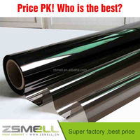 Zsmell Car reflective window tinting film, Imported Korea PET material,heat insulation
