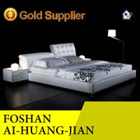 adjustable headboard modern luxury comfortable leather bed T001
