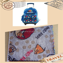 Durable & Fashion faux pvc printed leather new design for Travel bag