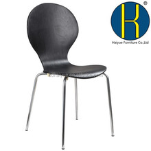 Strong modern black bent wood dining chair