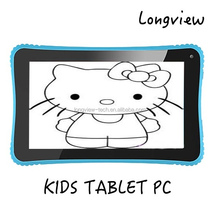 7 Inch Android wifi Kid Tablet, Android 4.4 KitKat OS, Quad Core CPU, 8GB, bluetooth dual cameras 512MB/8GB