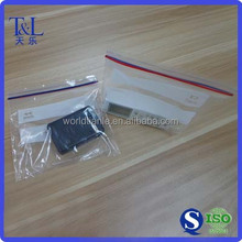 Double ziploc bag with white block for appliances packing, double ziploc bag