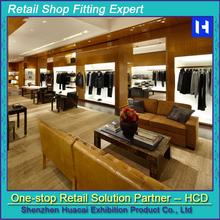 Customized Men Clothes Retail Shop Display Furniture Design