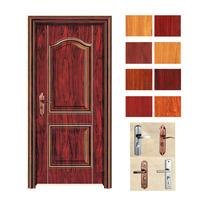 china dark red transfer painting steel door