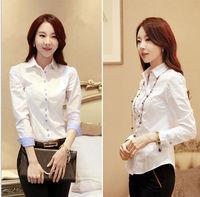 D92503T 2014 autumn korean new design long sleeve office ladies blouse/women shirt/women blouse